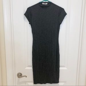 Mikey & Joey Charcoal Grey Fitted Dress Small